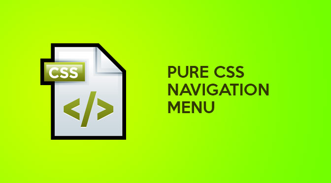 The Best Pure CSS Navigation Menu