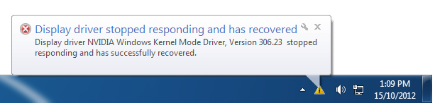 """Solved: NVIDIA """"Display driver stopped responding and has"""