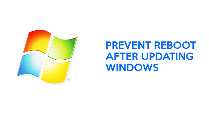 Stop Windows Automatic Reboot After Updates